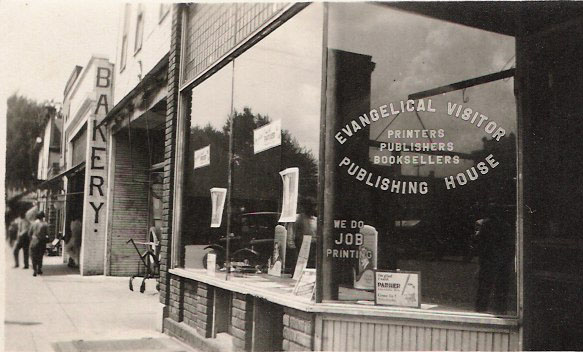 The headquarters of Evangel Publishing House and the Publications Board in Nappanee, Indiana, in the 1930s. (Brethren in Christ Historical Library and Archives)