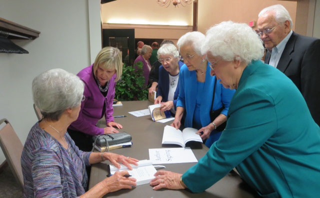 A book signing event organized by the Brethren In Christ Historical Society in October 2014. The book signing featured authors Beth Hostetler Mark, Devin Manzullo-Thomas, and AnnaRuth Sider Osborne