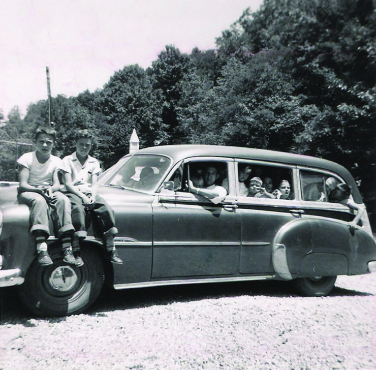 1954 Farris Mines VBS station wagon