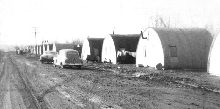 This photo of several quonset cabins was published in the August 27, 1956 issue of the