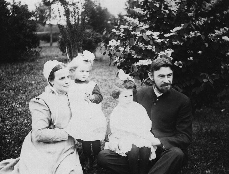 Myron and Adda Taylor, with Anna and Ruth