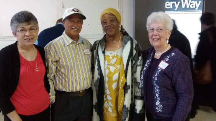 Ana and Gilbert Martinez, Mae Moton (recently deceased), and Mary Lou Ruegg